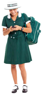 young girl with cell phone